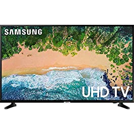 Samsung UN50NU6900 50″ NU6900 Smart 4K UHD TV (2018) w/Wall Mount Bundle Includes, Wall Mount Kit for 45-90 inch TVs, Screen Cleaner (Large Bottle) and SurgePro 6-Outlet Surge Adapter w/Night Light