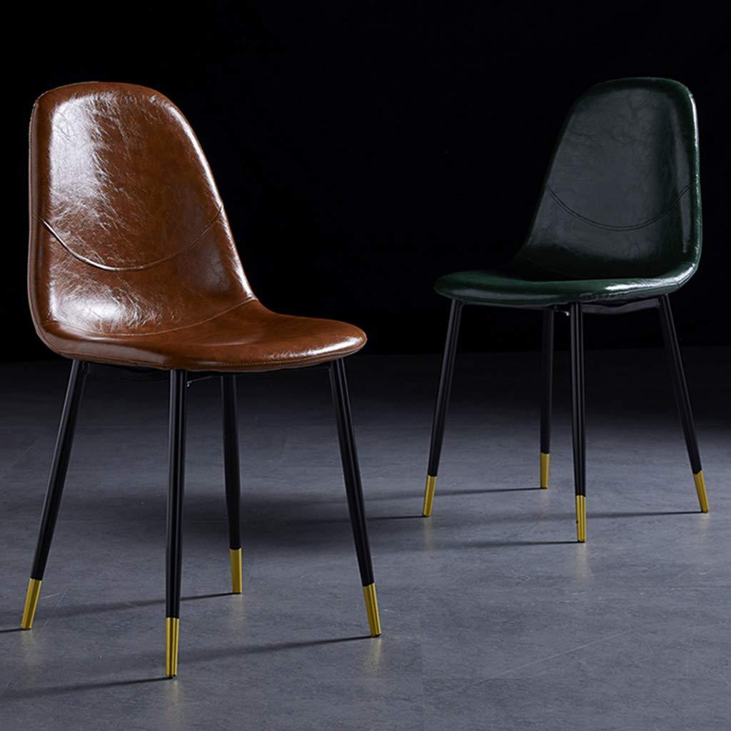Matstol nordisk hem smidesjärn rostskyddad kontorsstol vardagsrum stol industriell stil retro pall ryggstöd enkel skrivbordsstol västerländsk bekväm och praktisk G