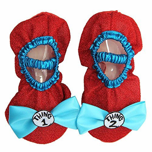 [elope Thing 1 & 2 Costume Shoe Covers] (Girl Grinch Costume)
