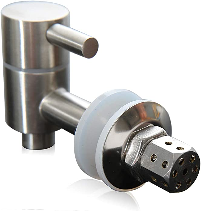 Stainless Steel Metal Spigot For Beverage Dispenser With Screen (Fits 5/8 To 3/4 Inch Opening) Replacement Spigot For Glass Drink Jar Berkey Bucket Ceramic Porcelain Crock Water Dispenser etc