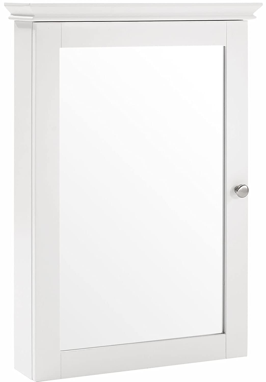 Crosley Furniture Lydia Mirrored Bathroom Wall Cabinet - White