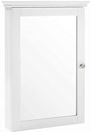 Amazon Com Crosley Furniture Lydia Mirrored Bathroom Wall Cabinet