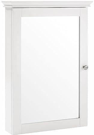 bathroom wall cabinet white. Crosley Furniture Lydia Mirrored Bathroom Wall Cabinet  White Amazon com