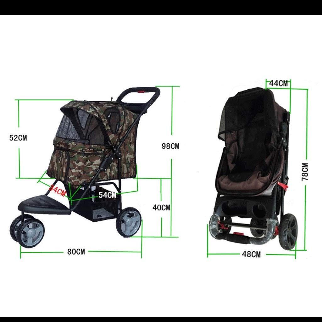 Camouflage QARYYQ Lightweight Folding Pet Stroller Pet car seat (color   Purple)