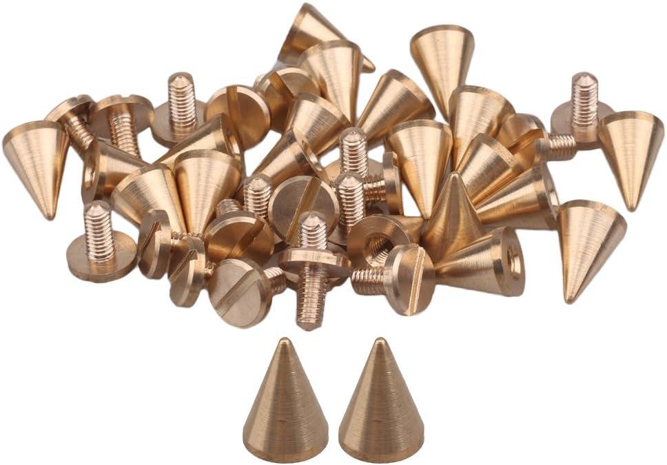 Cone Screwback Metal Studs Screw Leathercraft Rivet Bullet Spikes Spots Golden