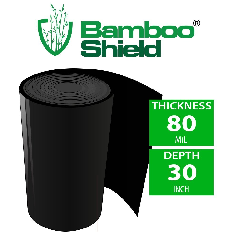 Bamboo Shield – 50 Foot Long X 30 Inch Wide 80mil Bamboo Root Barrier/Water Barrier by Bamboo Shield
