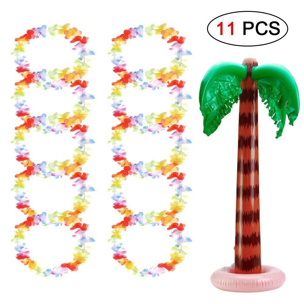 Ungfu Mall 11 Piezas Collar Hawaiano Hinchable Palmera árbol ...
