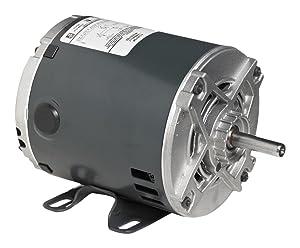 Marathon C176 56 Frame Open Drip Proof 5KC46LN0153X General Purpose Motor, 3/4 hp, 1800 RPM, 115/230 VAC, 1 Phase, 1 Speed, Ball Bearing, Rigid Base, Capacitor Start