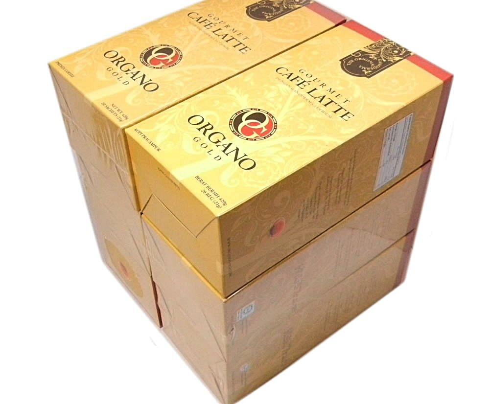 5 Boxes Organo Gold Gourmet Cafe Latte Free 5 Sachets Gano Excel 3 in 1
