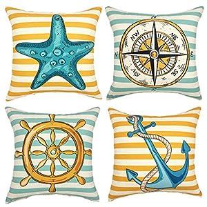 61wh8Q5mLeL._SS300_ 100+ Nautical Pillows & Nautical Pillow Covers