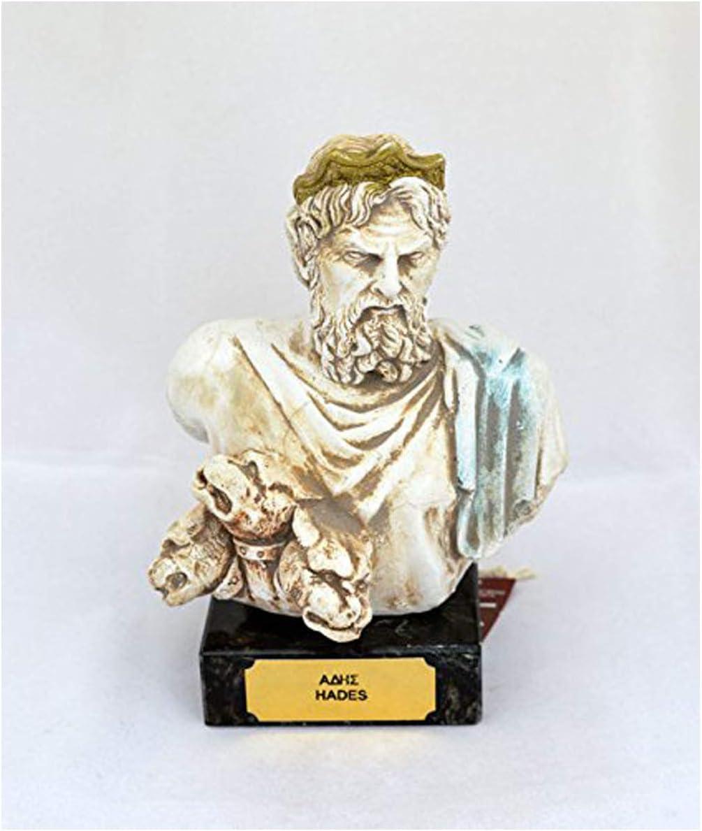 Hades dios de la antigua Grecia rey de el infierno Escultura Estatua Busto: Amazon.es: Hogar
