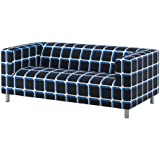 IKEA Klippan Loveseat Cover, Alvared Black-Blue (Cover Only)