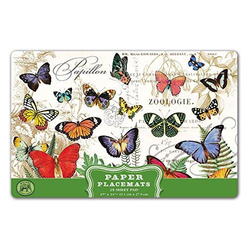 Michel Design Kitchen Dining Party Paper Placemats - Papillon (Mat Design)