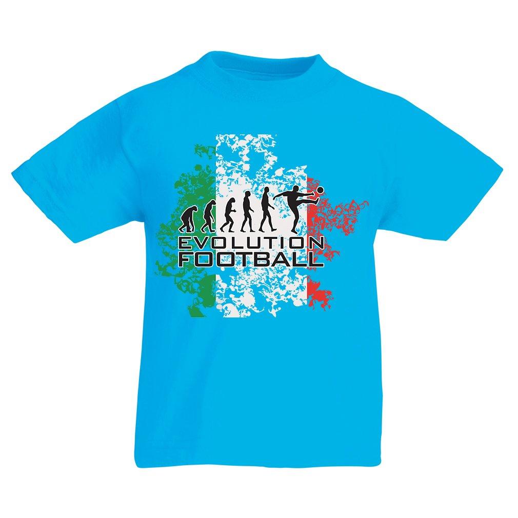 lepni.me Camiseta Niños/Niñas Evolución del Fútbol - Italia, Rusia Campeonato 2018, Copa del Mundo, Equipo de Fútbol Italiano: Amazon.es: Ropa y accesorios