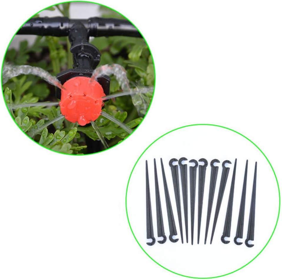Zdmathe 11mm Support Fixation 100 Pcs Plastic Irrigation Drippers pour 4//7mm Irrigation Goutte /à Goutte Tuyau deau