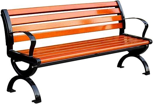 XLOO Patio Park Banco de jardín, silla de porche resistente a la ...