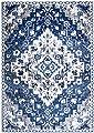 Southwestern Rug, Blue Area Rug Vintage Inspired Overdyed Distressed Fancy Carpet