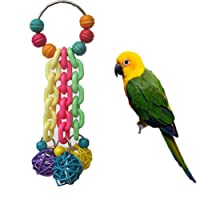 Keersi Colourful Toy for Bird Parrot African Greys Budgie Cockatoo Parakeet Cockatiels Conure Macaw Lovebird Canaries Cage Chew Toy