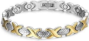 Titanium Magnetic Bracelets for Women Elegant Steel Magnet Bracelets Adjustable