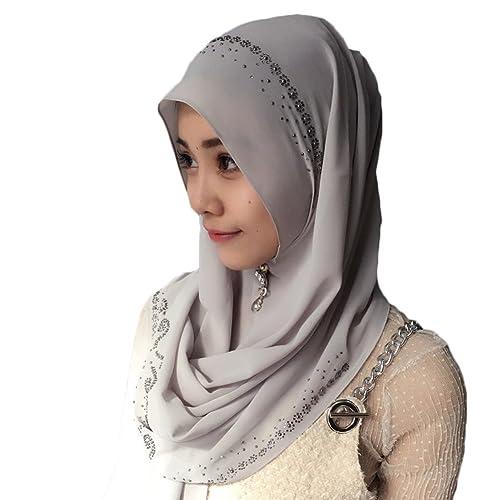 Feicuan Mujer Saudi Arabia Dubai Pañuelo musulmán Islamic Hijab Turban