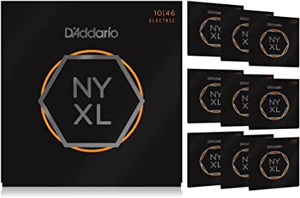 Latest Model D/'Addario NYXL1046 Electric Guitar Strings Regular Light 10-46