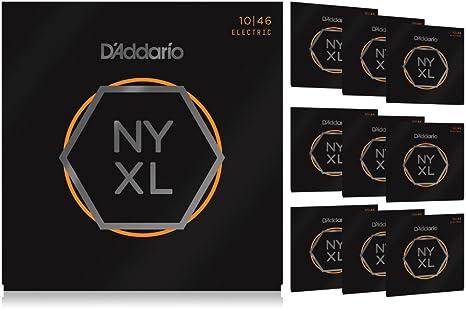 D Addario NYXL1046 luz paquete de 10 unidades cuerdas para guitarra eléctrica