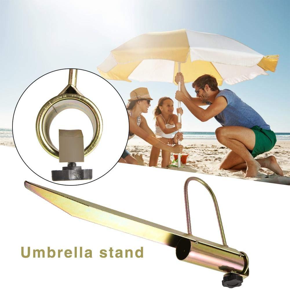 Pied Parasol De Plage M/étal Base Et Support De Parasol De Plage pour P/êche Jardin Plage Cour Ext/érieur