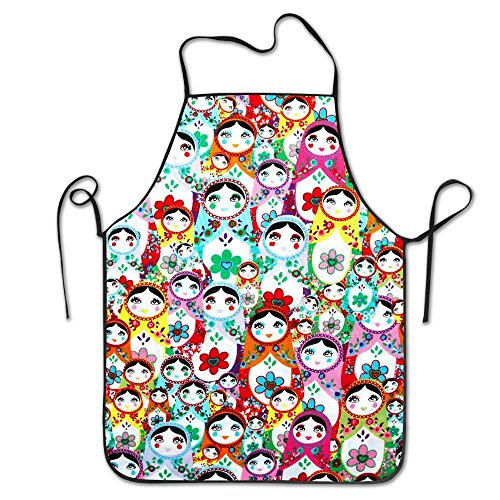 Russian Dolls Chef Aprons Professional Bib Apron For Women Men Girl Kids Gifts Kitchen Decorations