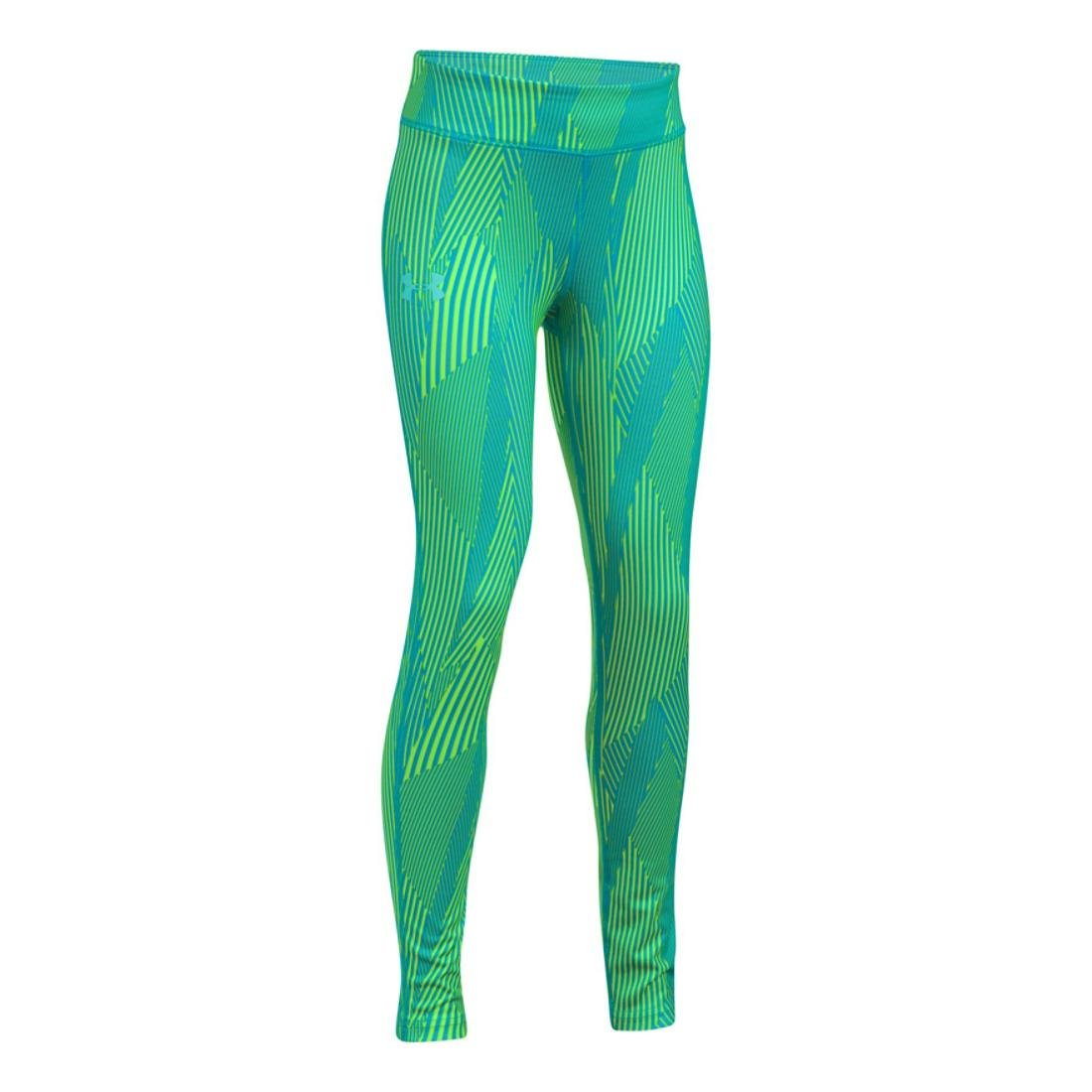 Under Armour Girls HeatGear Printed Legging, Blue Shift, XL (18-20 Big Kids) x One Size