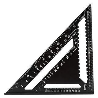 Wildlead 7 Pollici, Righello di Alluminio Carpentiere Quadrato Strumento di Layout di misurazione per l'insegnamento Quotidiano Righello di Alluminio Carpentiere Quadrato Strumento di Layout di misurazione per l'insegnamento Quotidiano