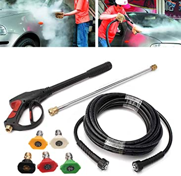 Amazon Com 3000 Psi Pressure Washer Gun Power Washer Spray Gun Kit With Universal M22 Connector And 5 Quick Connect Nozzles For Generac Briggs Craftsman Home Improvement