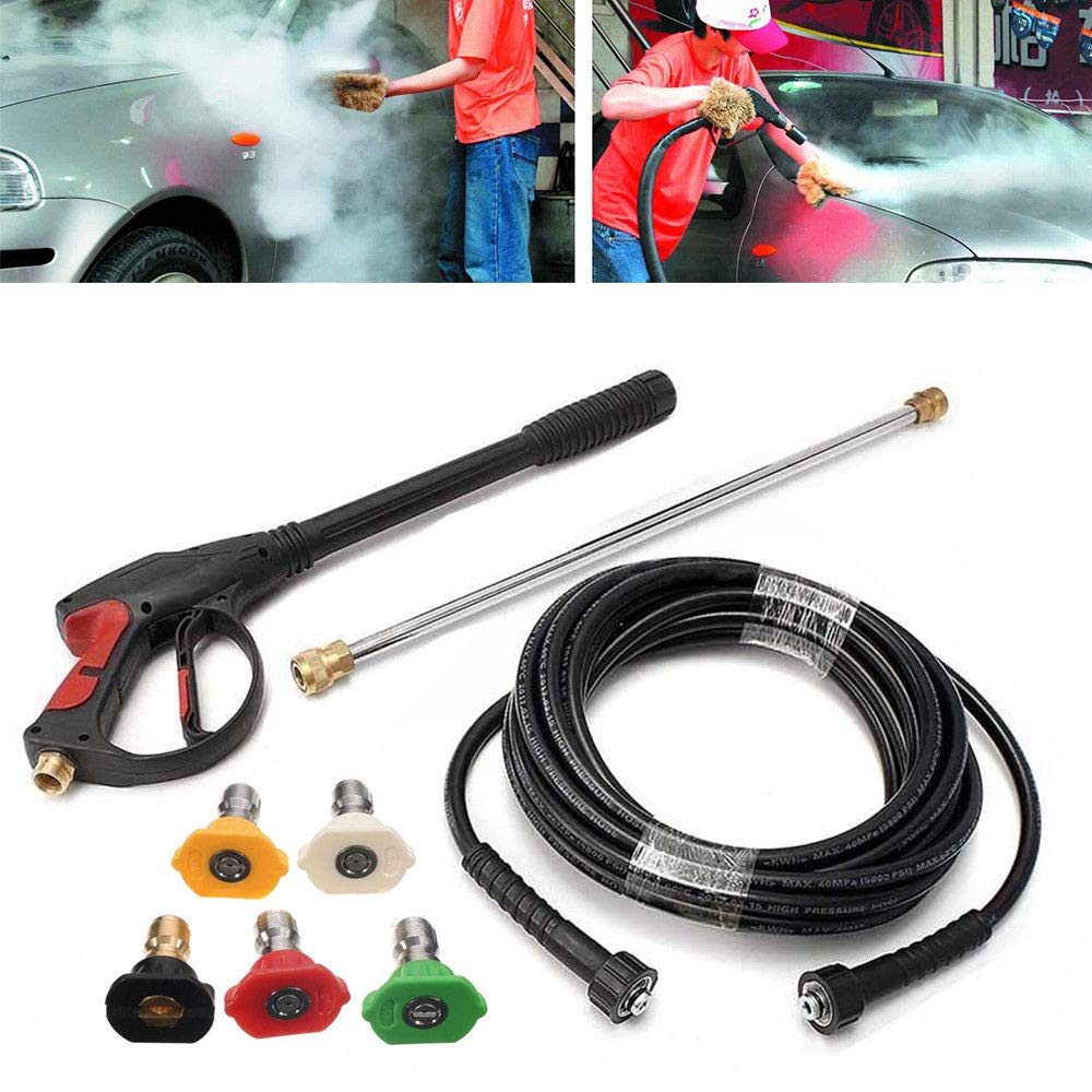 3000 PSI Pressure Washer Gun Power Washer Spray Gun Kit with Universal M22 Connector and 5 Quick Connect nozzles for Generac Briggs Craftsman by ONEPACK