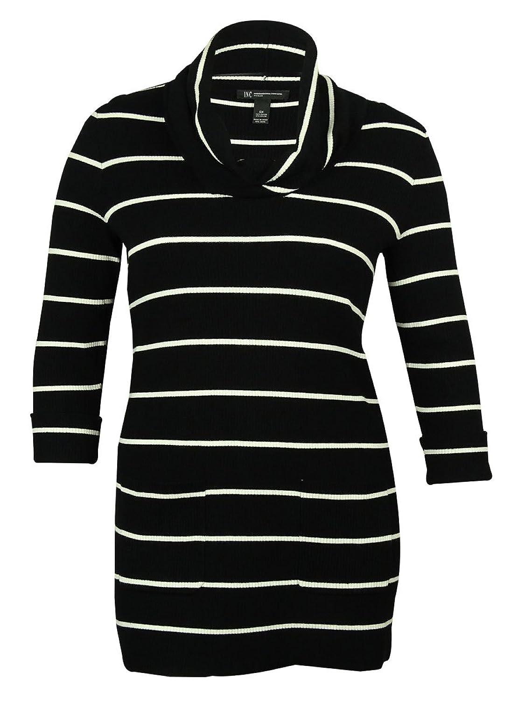 INC International Concepts Women's Stripe Tunic Sweater