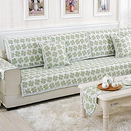 HL-Biancheria Cuscino per divani di Tessuto di Cotone Set Divano per ...
