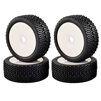 Amazon Com Lafeina 4pcs 1 8 Scale Tires Wheels 17mm Hubs Rc 1 8