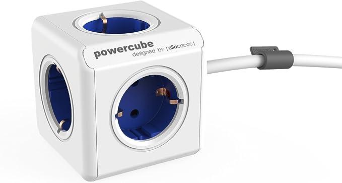 Allocacoc Powercube Extended Blau Eu 5x Steckdose Und Elektronik