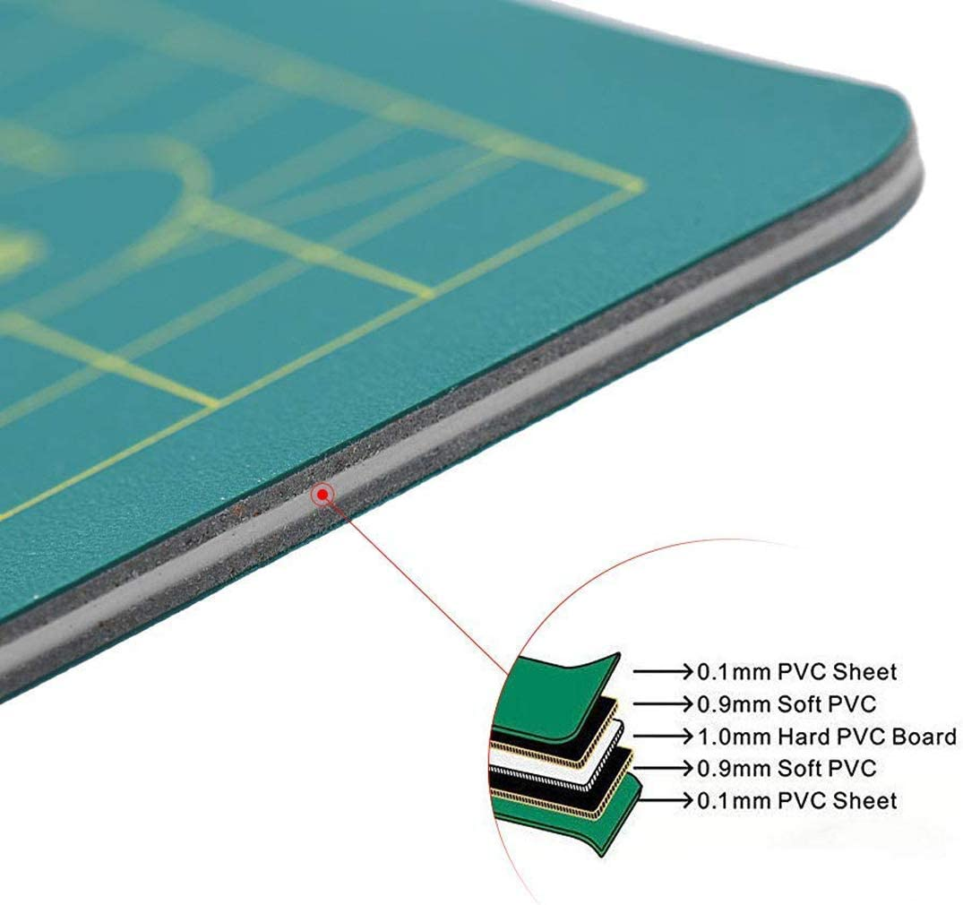 LERTREE Non Slip Professional Double-Sided Self Healing Rotary Cutting Mat Board Tool 12 X 8 Inch