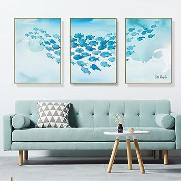 Hervorragend Wandbild Moderne Einfache Wandmalereien Wohnzimmer Dekorative Malerei Sofa  Hintergrund Wand Gemälde Modell Haus Triptychon Hotel Schlafzimmer