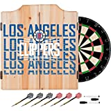 Trademark Gameroom NBA7010-LAC3 NBA Dart Cabinet Set with Darts & Board - City - Los Angeles Clippers