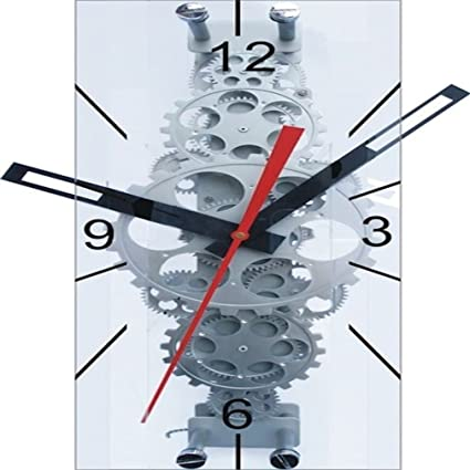 Amazon Com Maples Sales Large Moving Gear Wall Clock With Glass