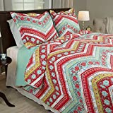 Lavish Home 3 Piece Zina Quilt Set, Full/Queen