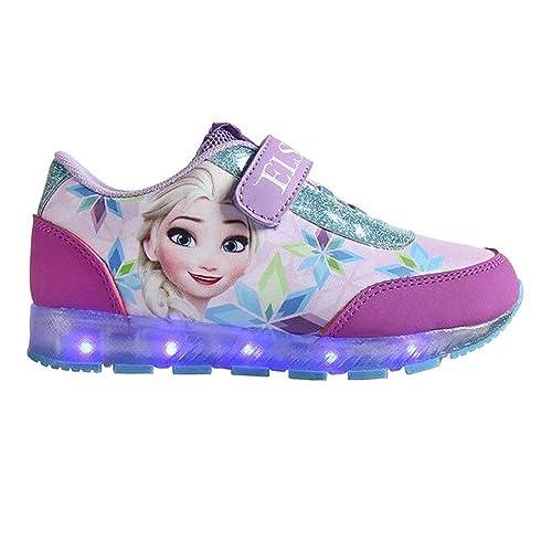 19d8bada333d Frozen - Zapatilla Deportiva Baja Con Luz  Amazon.es  Zapatos y complementos