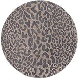 Surya Athena ATH-5114 Hand Tufted Wool Round Animal Print Accent Rug, 4-Feet