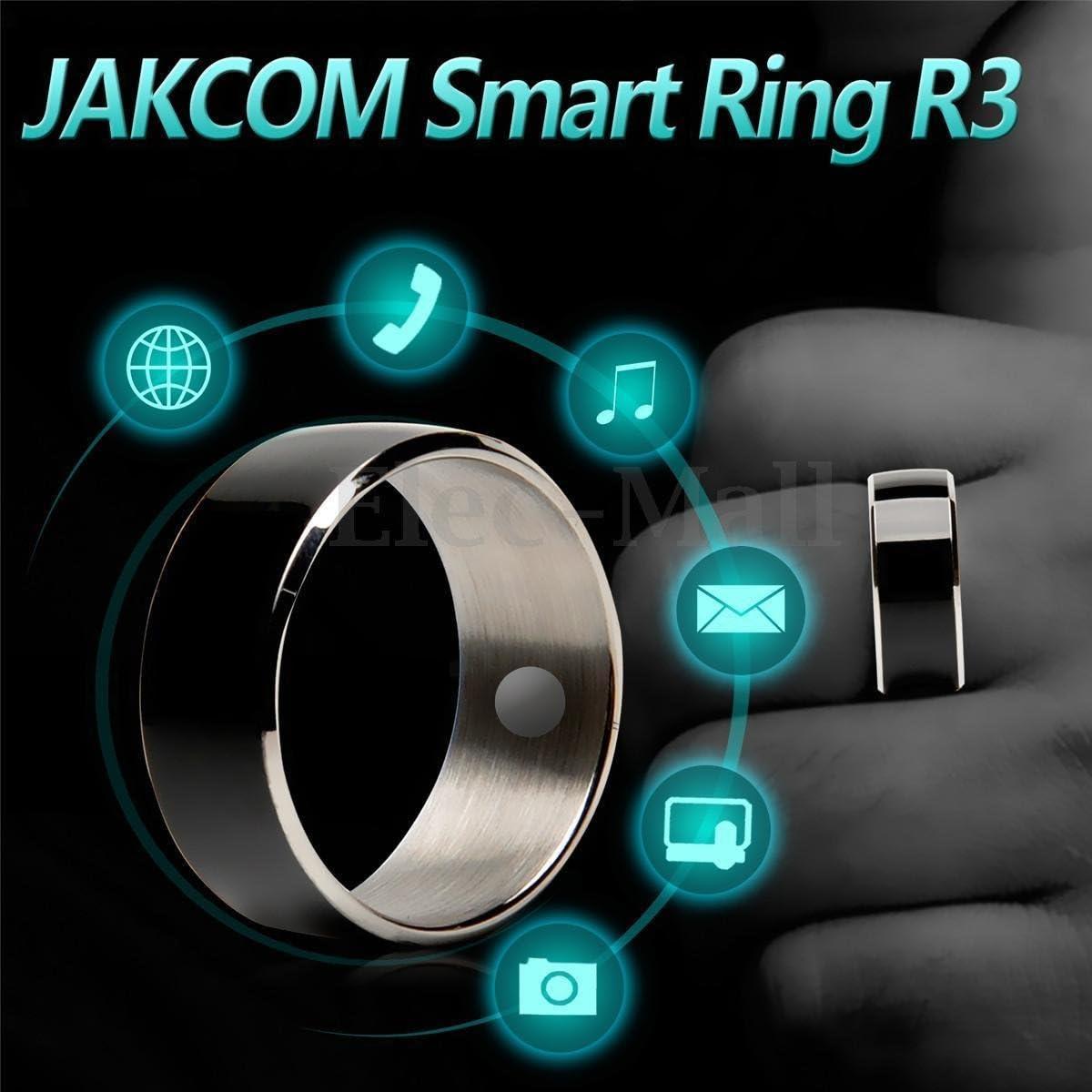 Noir Jakcom R3 Smart NFC Multifonctionnel Anneau 2016 pour Android et Windows Phone Taille 12