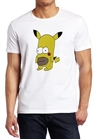 3a6aa2f4 Pokemon Pikachu Homer Parody Fan Shirt Custom Made T-shirt (L): Amazon.co.uk:  Clothing