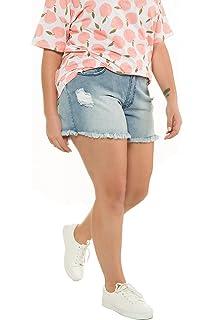 ea319b748e7af Studio Untold Women s Plus Size Fringe Hem Stretch Denim Shorts 718086