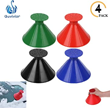 Magical Ice scrapers for Car Windshield Ice Snow Remover Scraper Tool Cone Shaped Round Funnel Windshield Scraper for Car Window Glass