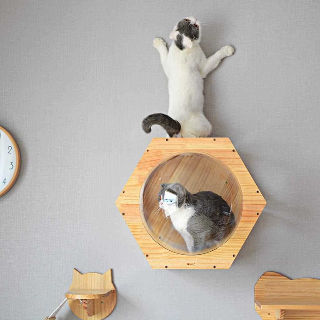 Amazon.com : Hong Yi Fei-Shop-Pet nest Gato De Madera Maciza ...
