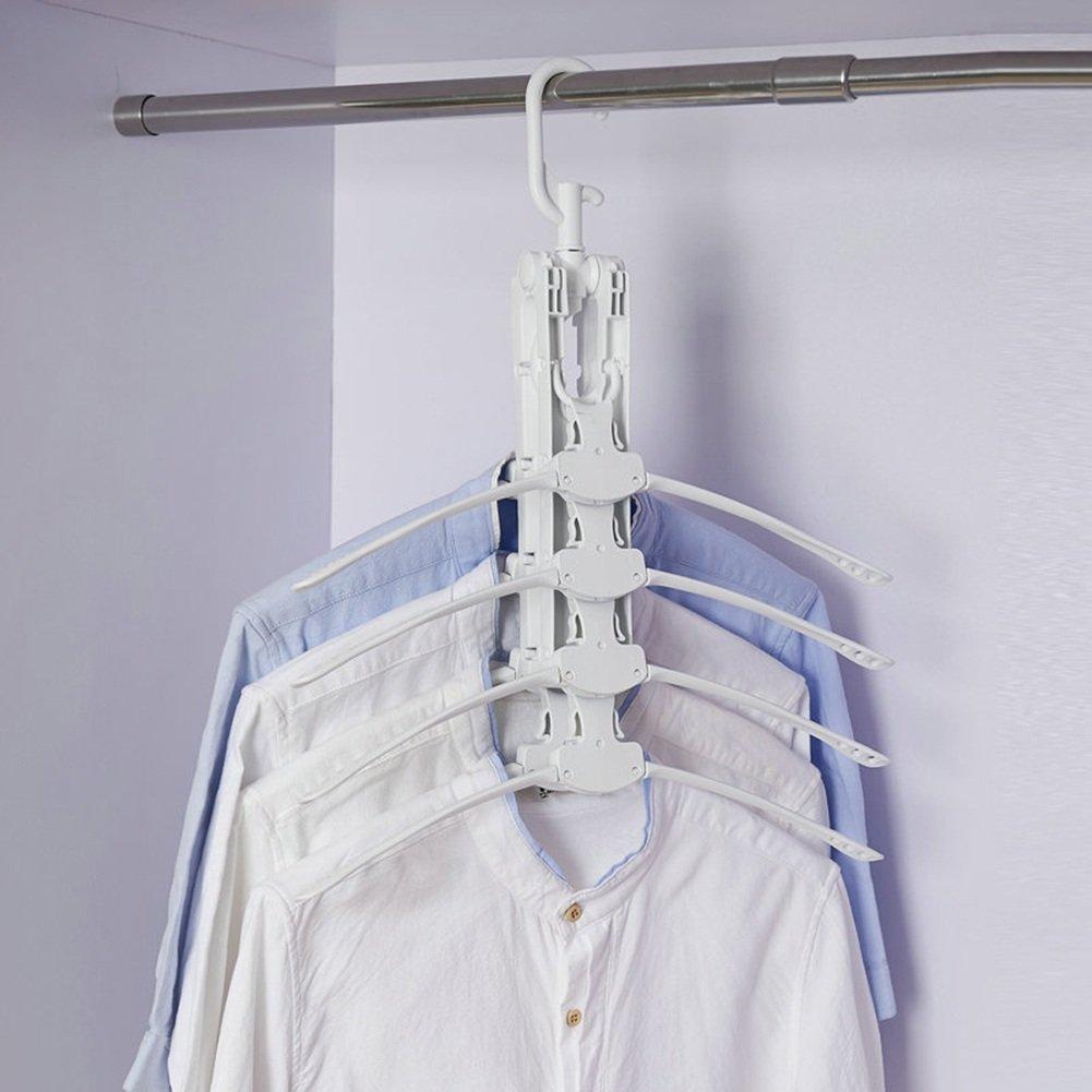 LIANGJUN 衣類マジックハンガーコートスケーラブル折りたたみ多機能回転可能な乾燥ラック、52X37.5X19.5cm ( サイズ さいず : Quantity 9 ) B07BFNGKMJ  Quantity 9