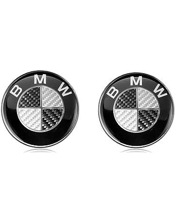 2 x BMW Emblem Emblemas para capó y Maletero 82mm Hood Logo Delantero Trasero Bonnet Boot